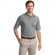 Jerzees 436MP SpotShield Jersey Knit Sport Shirt with Pocket - Oxford
