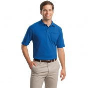 Jerzees 436MP SpotShield Jersey Knit Sport Shirt with Pocket - Royal
