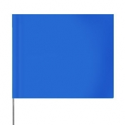Presco Plain 4 inch x 5 inch with 21 inch Staff - 100/Bundle - Blue