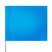 Presco Plain 4 inch x 5 inch with 21 inch Staff - 100/Bundle - Blue Glo