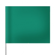 Presco Plain 4 inch x 5 inch with 21 inch Staff - 100/Bundle - Green