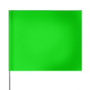 Presco Plain 4 inch x 5 inch with 21 inch Staff - 100/Bundle - Green Glo