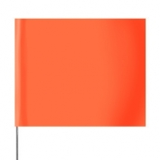 Presco Plain 4 inch x 5 inch with 21 inch Staff - 100/Bundle - Orange