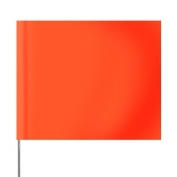Presco Plain 4 inch x 5 inch with 21 inch Staff - 100/Bundle - Orange Glo