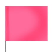 Presco Plain 4 inch x 5 inch with 21 inch Staff - 100/Bundle - Pink Glo
