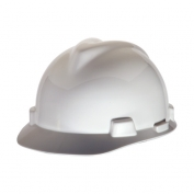MSA 463942 V-Gard Hard Hat - Staz-On Suspension - White