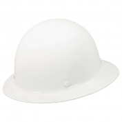 MSA 475408 Skullgard Full Brim Hard Hat - Fas-Trac Suspension - White