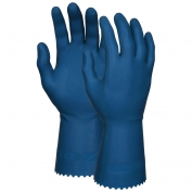 Memphis 5070B Unsupported Canners Gloves - 18 mil Latex - Industry Standard