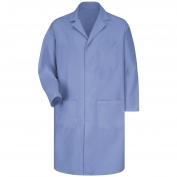 Red Kap 5080 Men's Four Snap Front Lab Coat - Light Blue