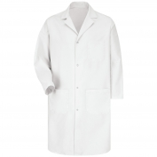 Red Kap 5080 Men's Four Snap Front Lab Coat - White