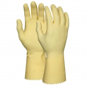 Memphis 5099E Unlined Canners Gloves - 18 mil Latex - Amber