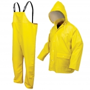 River City 5182Y Navigator Class 3 Three-Piece Rain Suit - .40mm PU/Knitted Polyester - Yellow
