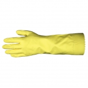 Memphis 5255L Flock Lined Latex Gloves - 18 mil - Scalloped Cuff