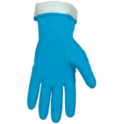 Memphis 5299PB Flock Lined Latex Gloves - 18 mil - Straight Cuff