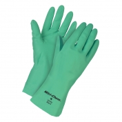 Memphis 5308E Nitri-Chem Unlined Nitrile Gloves - 11 mill - Medium - Green