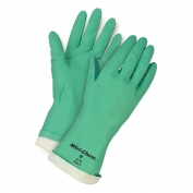 Memphis 5319 Nitri-Chem Unsupported Nitrile Gloves - 15 mil - Flock Lined - Green