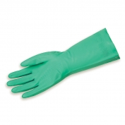 Memphis 5336S Nitri-Chem Flock Lined Nitrile Gloves - 18 mil - X-Small