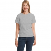 Hanes 5680 Ladies ComfortSoft Crewneck T-Shirt - Light Steel