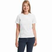 Hanes 5680 Ladies ComfortSoft Crewneck T-Shirt  - White