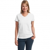 Hanes 5780 Ladies ComfortSoft V-Neck T-Shirt - White