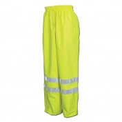 River City 598RPW Luminator Breathable Polyester/PU Rain Pants - Yellow/Lime