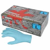 Memphis 6001 DuraShield Disposable Nitrile Industrial Grade Gloves - 4 mil - Powder Free - Blue