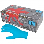 Memphis 6015 NitriShield Disposable Industrial Grade Nitrile Gloves - 4 mil - Powder Free - Blue
