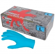 Memphis 6020 NitriShield Disposable Nitrile Industrial Grade Gloves - 4 mil - Powdered - Blue