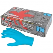 Memphis 6025 NitriShield Powdered Nitrile Disposable Gloves - 8 mil - Industrial/Food Grade - Blue