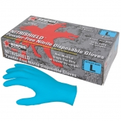 Memphis 6030 Nitrishield Disposable Nitrile Industrial Grade Gloves - 8 mil - Powder Free - Blue