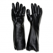 Memphis 6218 Single Dipped PVC Coated Gloves - Smooth Finish - Interlock Lined - Black