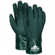 Memphis 6412 Premium Double Dipped PVC Gloves - Nitrile Reinforced - Jersey Lined