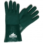 Memphis 6414 Double Dipped PVC Coated Gloves - Jersey Lined - Nitrile Reinforced