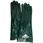 Memphis 6418 Double Dipped PVC Coated Gloves - Jersey Lined - Nitrile Reinforced