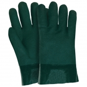 Memphis 6421 Double Dipped PVC Coated Gloves - Jersey Lined - Guanlet Cuff