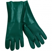 Memphis 6424 Double Dipped PVC Coated Gloves - Jersey Lined - Guanlet Cuff