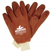 Memphis 6450S Premium Double Dipped PVC Coated Gloves - Jersey Lined - Knit Wrist