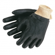 Memphis 6500S Double Dip Textured PVC Coated Gloves - Interlock Lined - Knit Wrist