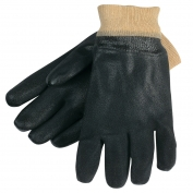 Memphis 6520SJ Double Dipped PVC Coated Gloves - Knit Wrist - Jersey Lined