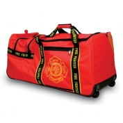 OK-1 Large Red Firefighter Wheeled Gear Bag