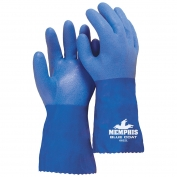 Memphis 6632 BlueCoat Flexible Seamless PVC Gloves - Triple Dipped - 12