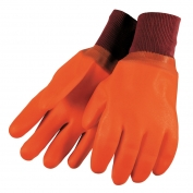 Memphis 6700F Premium Foam Lined PVC Gloves - Sandy Finish - Knit Wrist