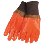 Memphis 6702F Premium PVC Coated Gloves - Foam Lined - Smooth Finish - Knit Wrist