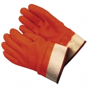 Memphis 6710F Premium Foam Lined PVC Gloves - Double Dipped PVC - Safety Cuff