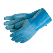 Memphis 6852 Blue Grit Rubber Coated Gloves - Interlock Lined - Textured Grip