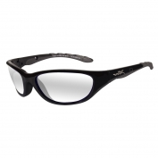 Wiley X AirRage Safety Glasses - Gloss Black Frame - Clear Lens