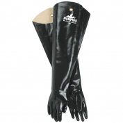 Memphis 6950 Black Jack Multi-Dip Neoprene Gloves - Smooth Finish - Interlock Lined - Black - 31 In