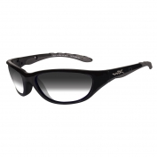 Wiley X AirRage Sunglasses - Gloss Black Frame - Gray Light Adjusting Lens