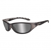 Wiley X AirRage Sunglasses - Crystal Metallic Frame - Polarized Silver Flash Lens