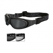 Wiley X SG-1 V-Cut Glasses/Goggles - Matte Black Frame - Grey & Clear Lenses